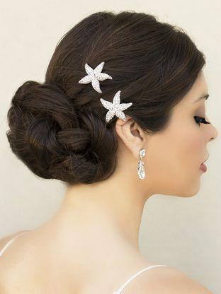 sea star rhinestone starfish hair clip
