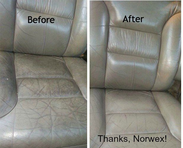 Leather Seats Enviro Cloth With A Smudge Of Cleaning Paste Then Shine Norwex Before And After Photos Pinterest