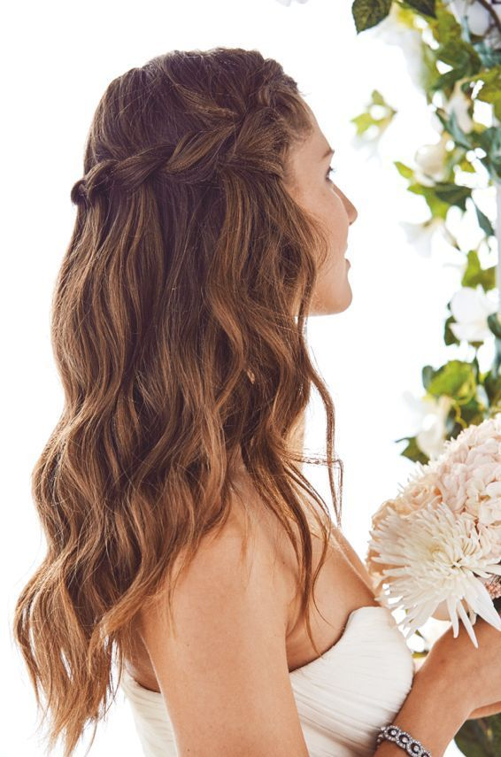 4 Beautiful Wedding Hairstyles And How To Do Them Waterfall Braids Are A Great Go To Bridal L In 2020 Guest Hair Medium Hair Styles Hair Styles