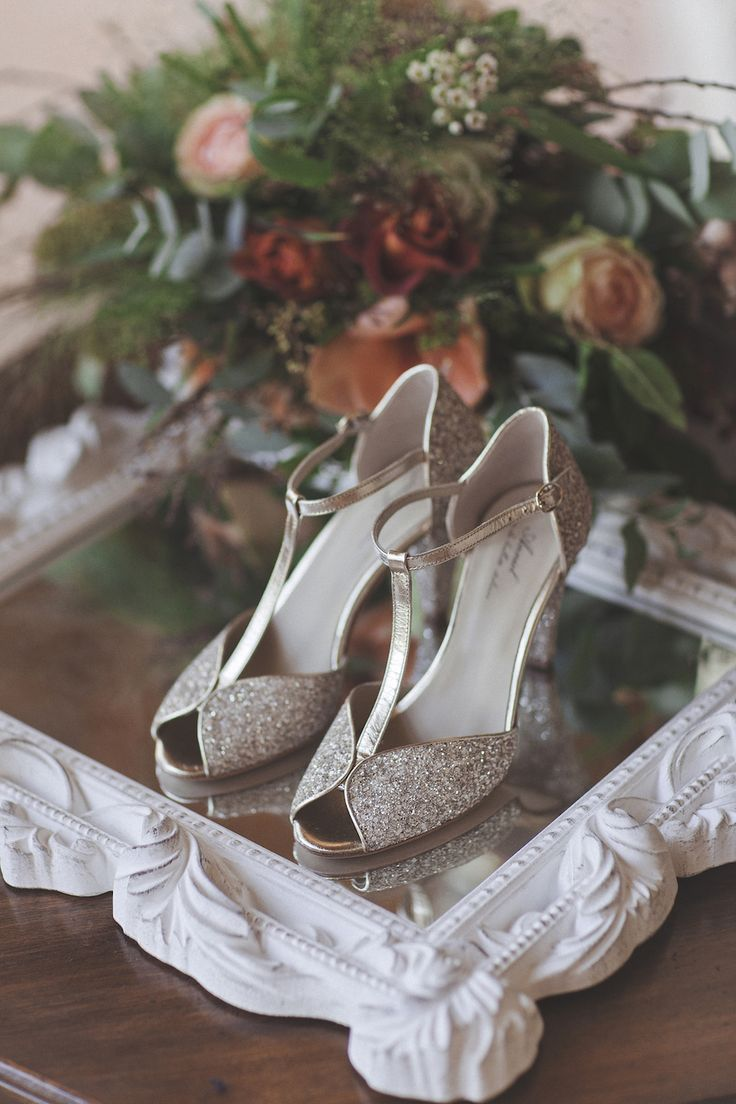 silver wedding shoes by anniel