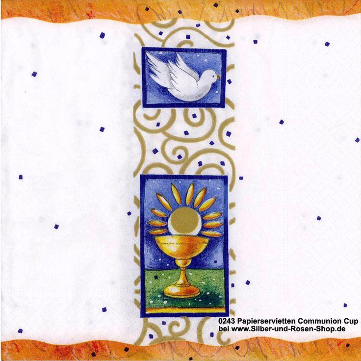 Papierservietten zur Kommunion - Communion Cup