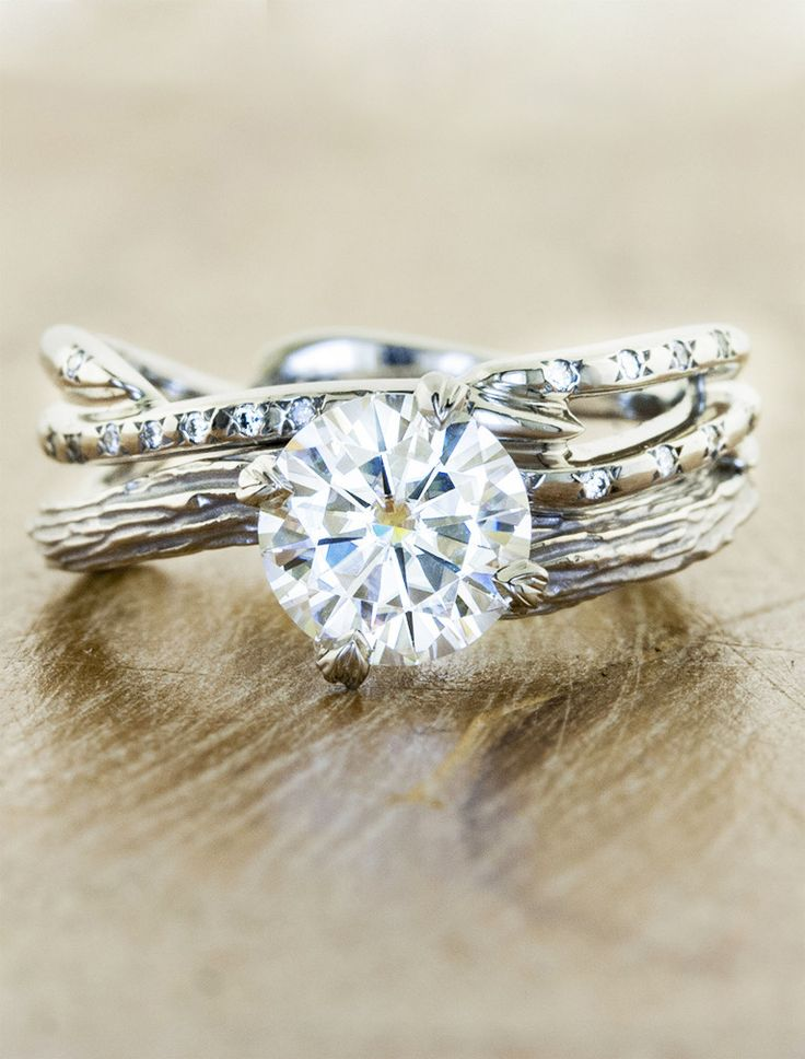 This is so beautiful and so unique! Love a country boy and something like this would be perfect :) Unique engagement rings by Ken & Dana in NYC