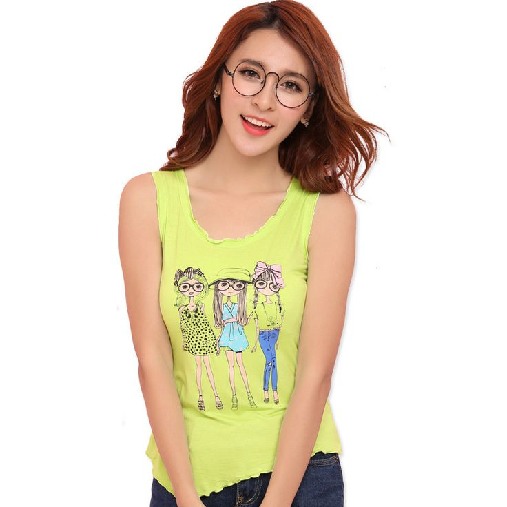Find More Tank Tops Information about 2016 Women's Summer Modal Fashion Floral Cartoon Asymmetrical Top Vest Camisole Lady Girls Sleeveless O neck Sport Tops Tanks,High Quality tank top tshirt,China tank shoes Suppliers, Cheap tank top wholesale from Riky_mall on Aliexpress.com