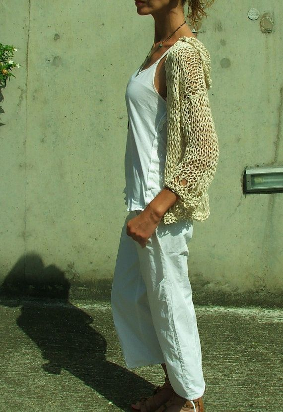 Cotton and linen mix throw on sweater LTD Edition by ileaiye,