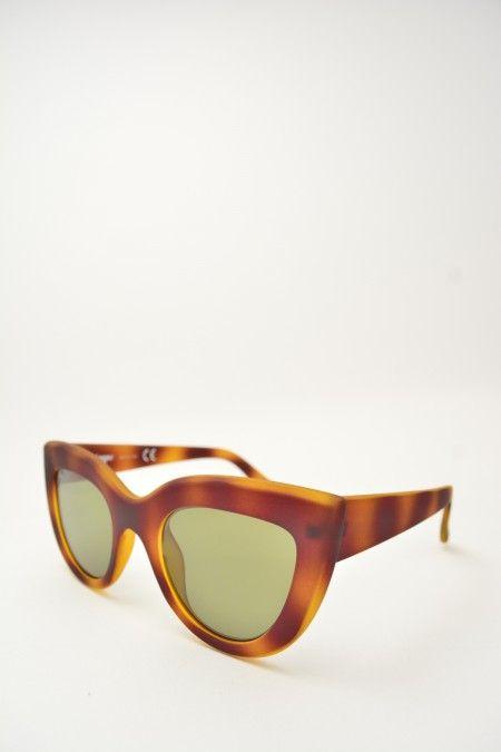 Logos PAOLA havana matte sunglasses #sunglasses #greenmirrored #logos #butterfly #butterflyshape #havanamatte #bassanodelgrappa #designglasses #design #cheap online store at www.bassanooptical.com