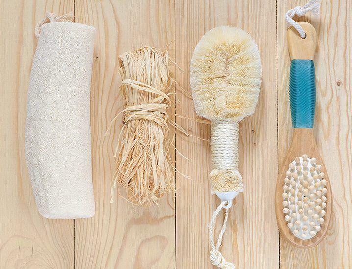 Escovação a seco para um corpo livre de toxinas