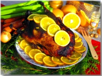 Tuscan duck with oranges
