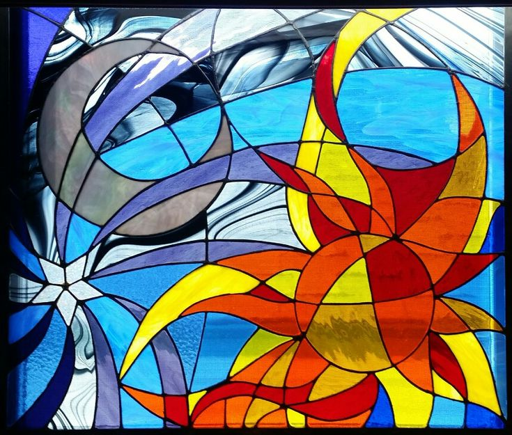125 Best Images About Stained Glass Sun, Moon, Stars On