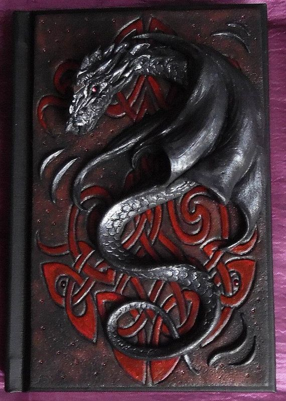 Notebook journal diary with polymer clay cover por ClaymanShop
