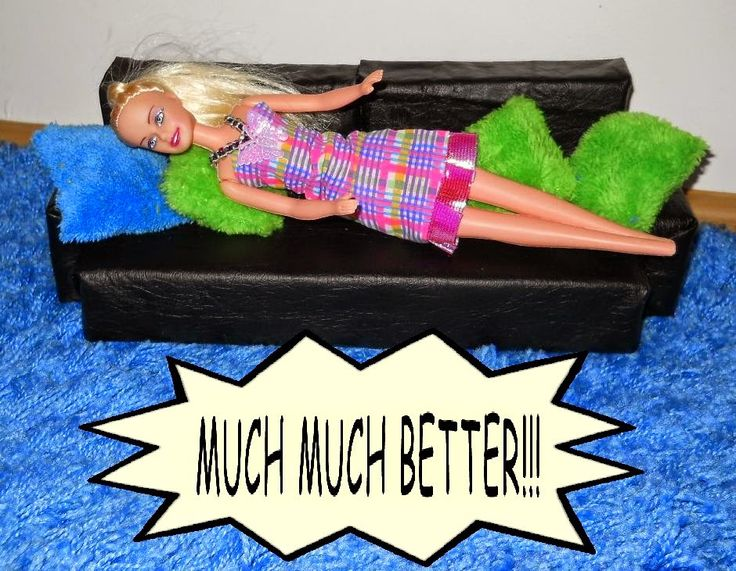 Barbie DIY furniture: warm and comfy sofa