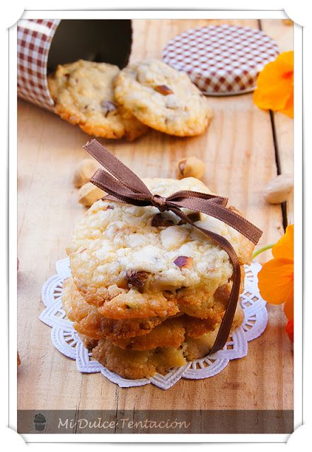 Mi dulce tentación: Galletas de chocolate blanco y Pistachos