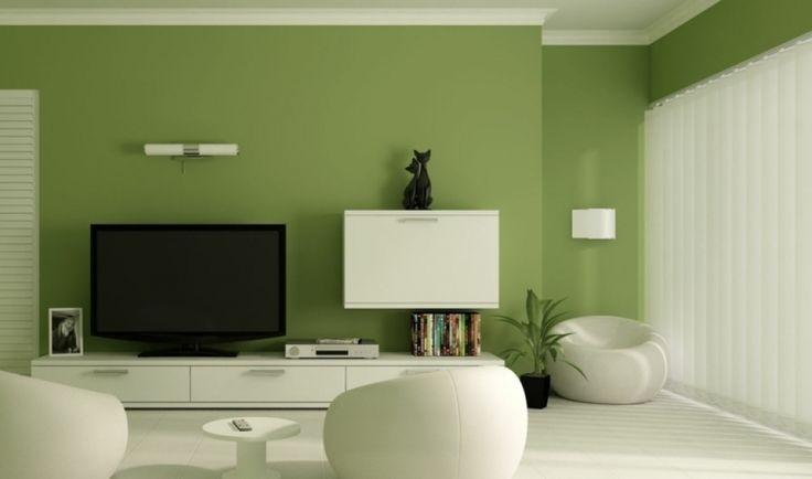 25 Moderner Wohnzimmer Anstrich Wandfarben 2015 Olive Idee