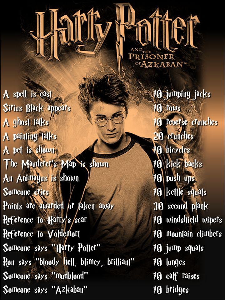 Harry Potter workout for Prisoner of Azkaban