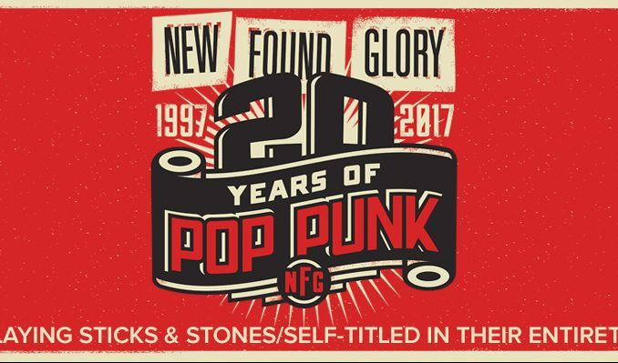 Punk-pop band New Found Glory playing albums Sticks & Stones and Self-Titled in their entirety at The National this Tuesday! Hit claim!