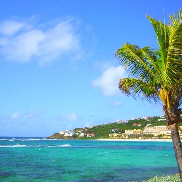 An amazing shade of blue in St. Maarten.  Lived here for 2 yrs, Dutch side.