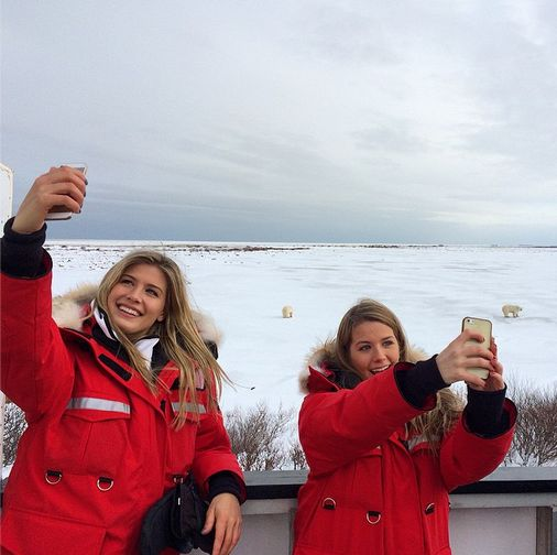 "Eugenie ""Genie"" Bouchard and sister in the Arctic"