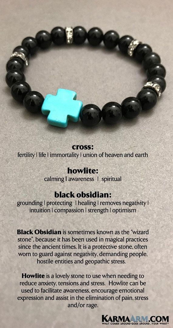 """BoHo Yoga Bracelets   Meditation Jewelry   Beaded Bracelets 💎 #Black #Obsidian is sometimes known as the """"#wizard stone"""", because it has been used in magical practices since the ancient times. It is a protective stone, often worn to guard against negativity, demanding people    #MensFashion #CrossJewelry #WomensJewelry #Bracelets #Gifts #Meditation #Yoga #Reiki #Wisdom #Spiritual"""