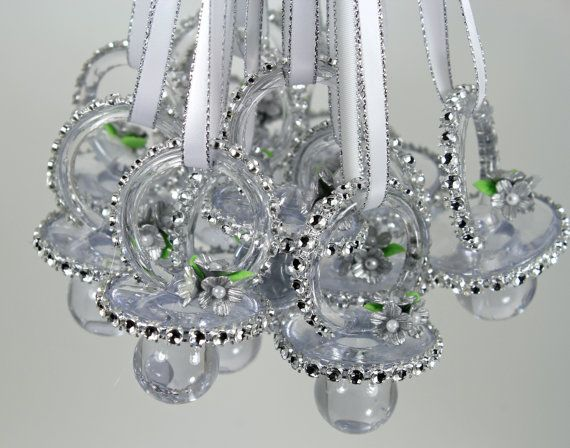 baby shower favors necklaces 12 games pacifiers silver shower baby