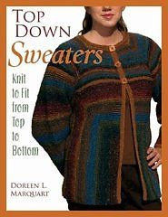 """""""Top Down Sweaters"""" Knitting Pattern Book Available for $24.95"""