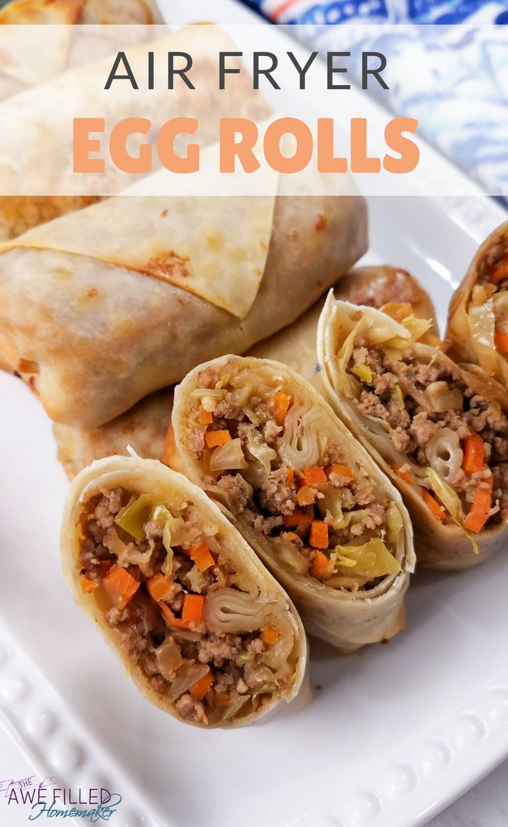 Just recently I shared how to make egg roll in a bowl! Well, today I am using that same recipe to share with you how to make egg rolls in the air fryer! YUM!