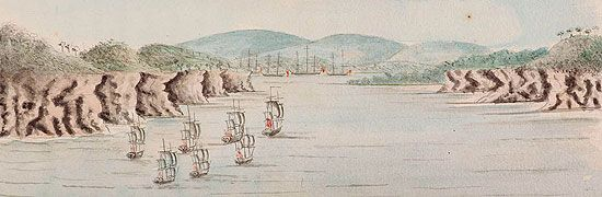 Amazing resources including animated map of the first fleet's voyage and first hand accounts of the voyage.
