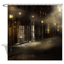 Victorian Street Shower Curtain for