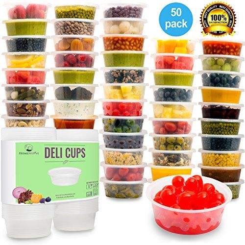 HomeNative Leakproof Plastic Food Storage Container with Lid 85 oz Pack of 50 * You can find more details by visiting the image link.