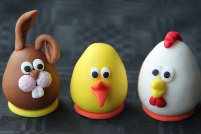 Äggformade påskfigurer! | Bakverk och Fikastunder