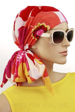$26.00 - Summer Garden Long Tail Head Wrap #cancer #chemo #alopecia