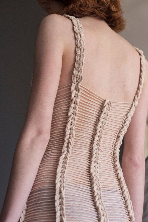 Helen Rödel & Neith Nyer — Helen Rödel. Crochet dress. Back details
