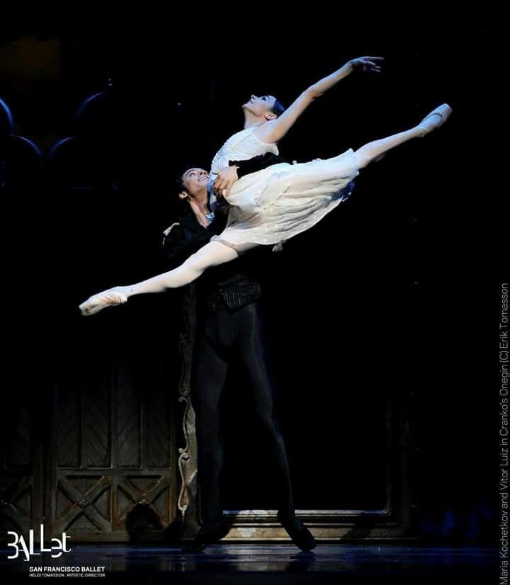 Maria Kochetkova and Victor Luis in Onegin at San Francisco Ballet.