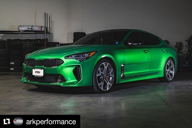 Repost Arkperformance Get Repost Fact Of The Day Green Is The Color Used For Nightvision Goggles Because The Human Eye Is Most Kia Stinger Kia Hot Cars