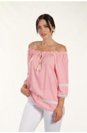 """Γυναικεία Μπλούζα  με Ρίγες """"Voltlam"""""""
