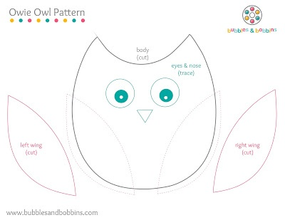 owl pattern. Via http://www.bubblesandbobbins.com/2012/06/owie-owl-booboo-bear-tutorial.html?m=1