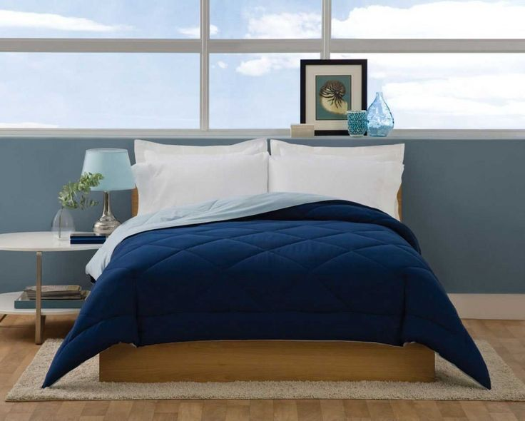 The Villa Navy Blue Reversible Comforter with FREE SHIPPING Reviews