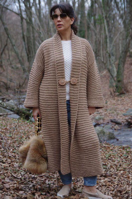 """Кофты и свитера ручной работы. Ярмарка Мастеров - ручная работа. Купить Вязаный кардиган-пальто """"Пески Времени"""" из коллекции""""CamelWool"""". Handmade."""