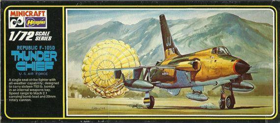 Vintage 1980's model airplane kit USAF Republic by RolandDressler, $20.00
