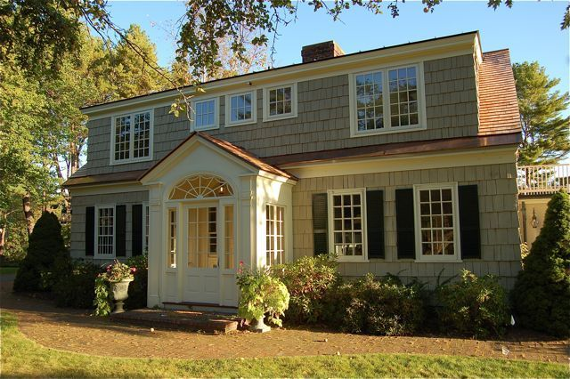 Portico with dormers on cape cod house google search for House plans with shed dormers