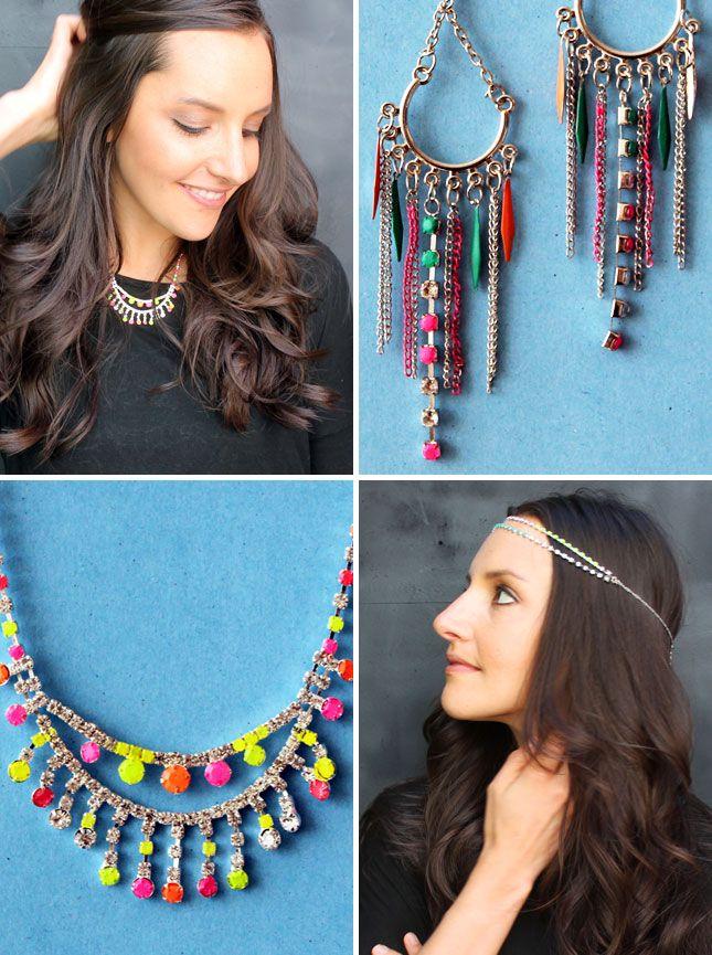 How to Make Neon Gemstone Jewelry | Brit + Co.