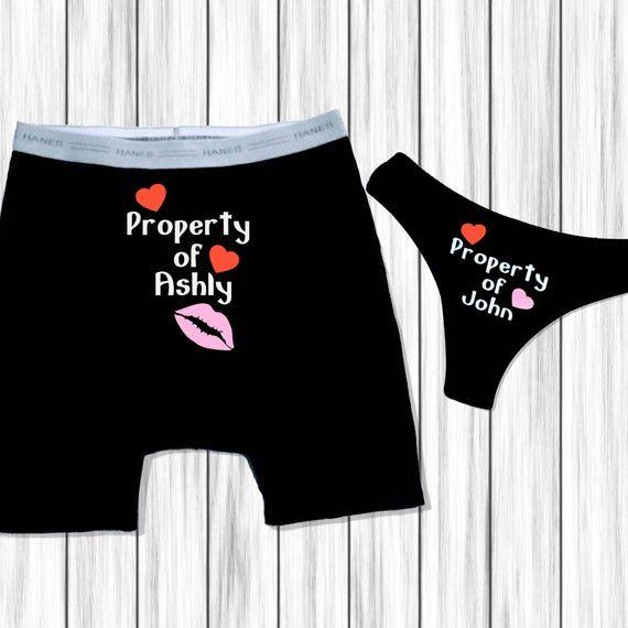 Mens personalized underwear Boyfriend gift. Property of underwear Custom underwear Wedding anniversary gift Bachelor party