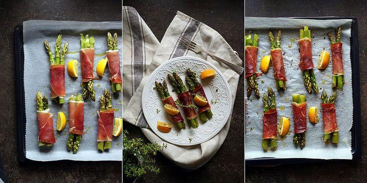 Kulinarne przygody Gatity - przepisy pełne smaku: Zielone szparagi zapiekane z szynką parmeńską