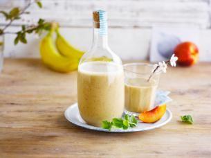 Frisse kokos-perzik smoothie
