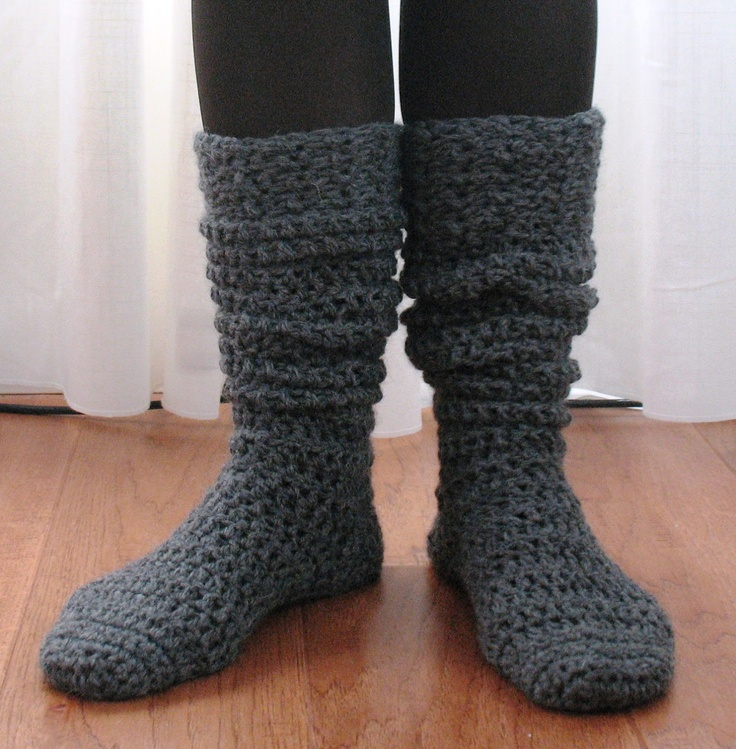 Free Crochet Pattern Knee High Socks : Ball Hank n Skein: Knee-High Boot Socks! free pattern ...
