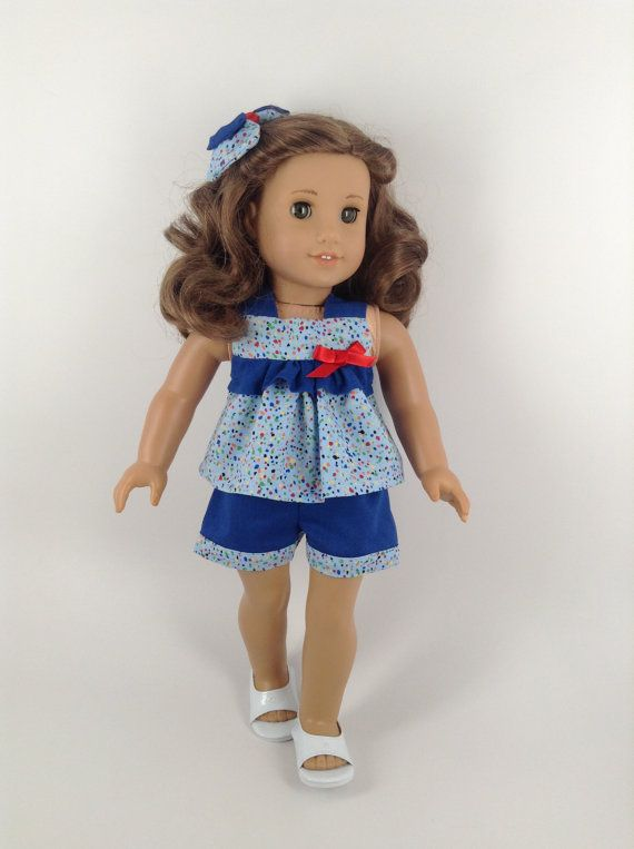 American Girl 18inch Doll Clothes Ruffled Top by HFDollBoutique, $16.00
