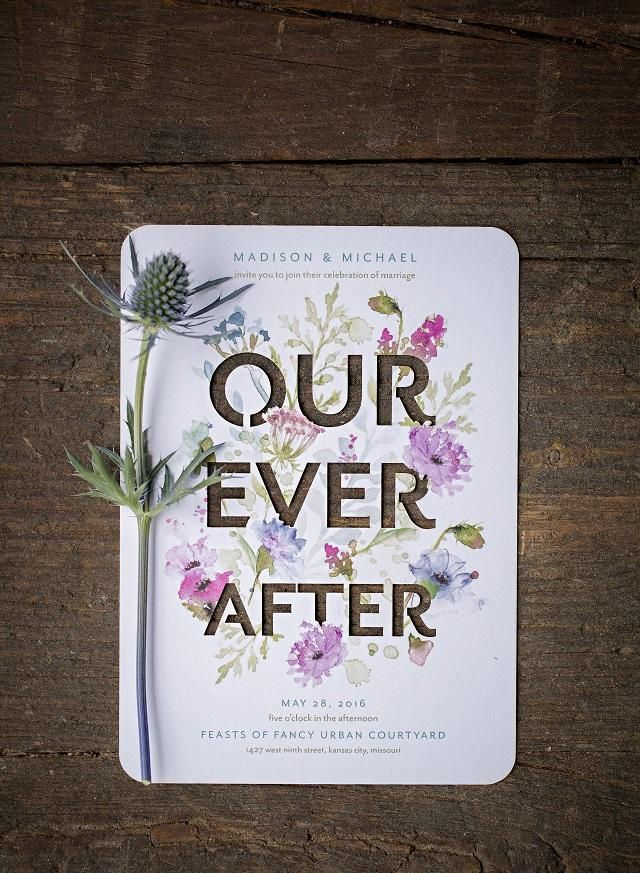 The perfect invite for a garden wedding #ourforever #invites #wedding #melbourne #weddingplanners