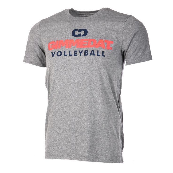 Show off your style and love of the sport with this super soft GIMMEDAT Volleyball t-shirt. Our GO2-T line is designed for the competitor in everyone. Made from a lightweight, super-soft blend of cotton, polyester, and rayon, these tees are perfect for any type of activity you can imagine. An athletic cut ensures your shirt stays in style and keeps you looking great.