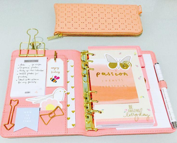 Kikki k medium personal planner. Kikki k be brave collection. IG photo @paperandideas