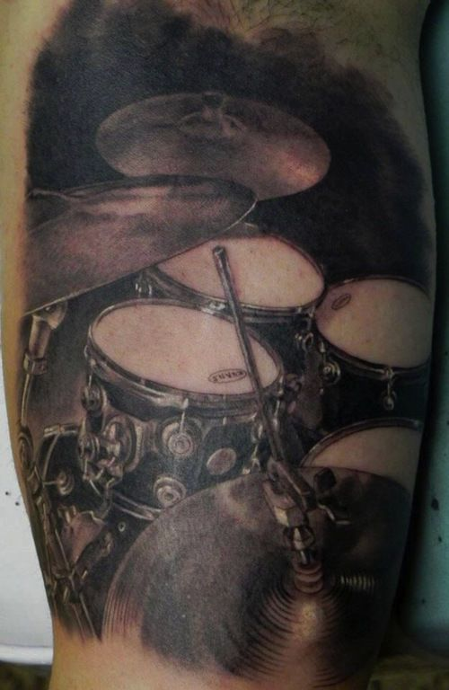 These drums are pretty neat!/Instrument Tattoos/Drum tattoos/tattoo ideas