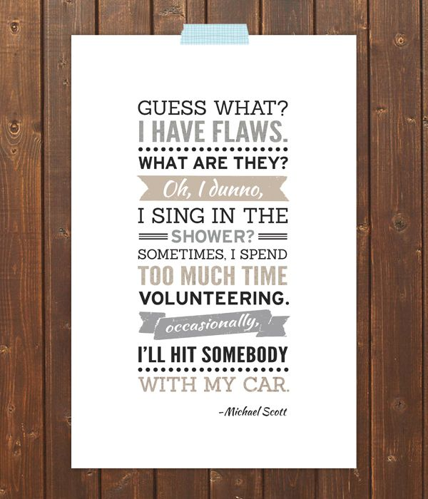 the office michael scott quote poster funny quotes
