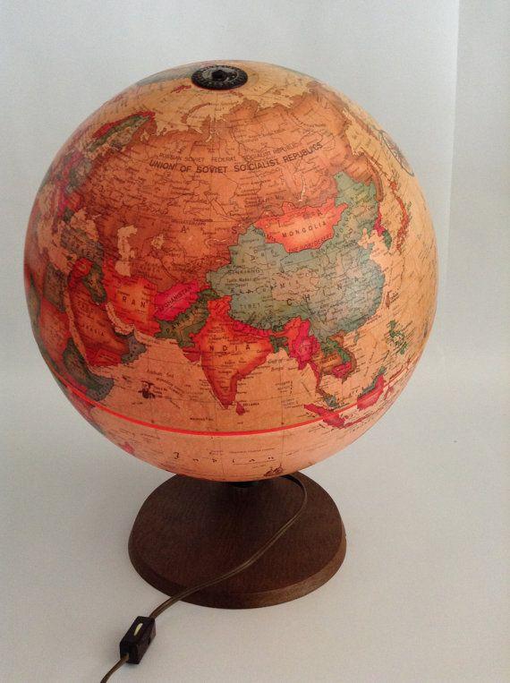 Vintage Globe Readers Digest World Antique by ModernArtifactDecor